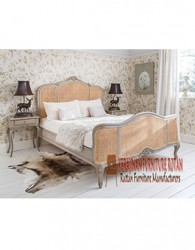 furniture tempat tidur kerajinan rotan