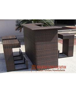 Meja dari Rotan Kerajinan Furniture KFR-AR-119