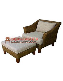 Bed Sofa Kerajinan Furniture Rotan KFR-AR-149