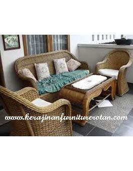 Sofa Kursi Minimalis Kerajinan Rotan KFR-AR-186