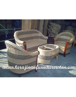 sofa dari rotan kerajinan