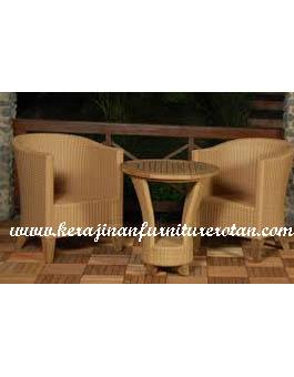 Kursi Makan Rotan Sintetis Kerajinan Furniture KFR-AR-201