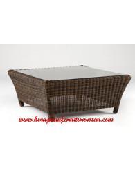 meja makan rotan minimalis kerajinan furniture