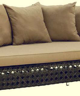 Kerajinan rotan sofa minimalis | Sofa rotan minimalis dengan anyaman bermotif jaring-jaring KFR-KTR-59