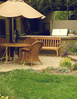 Mebel rotan kursi teras bergaya minimalis klasik
