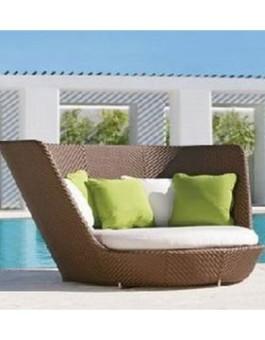 Kursi teras berjenis sofa santai minimalis rotan sintetis   Sofa santai rotan sintetis bergaya minimalis KFR-KTR-55