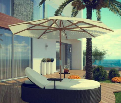 Sofa santai rotan minimalis dengan efek glosy