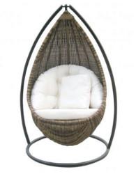 Ayunan rotan cacao, furniture rotan minimalis dengan sudut lancip