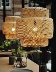 Hiasan lampu gantung dengan desain silinder