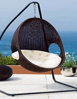 Ayunan rotan sofa gantung pantai