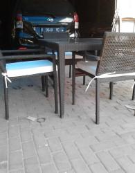 Meja Kursi Makan Furniture Rotan