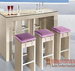Kursi Bar Murah Furniture Rotan Sintetis