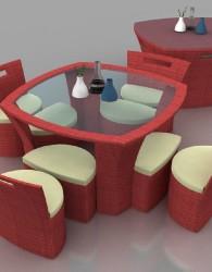 Kursi Sintetis Furniture Rotan Minimalis KFR-KM 0101