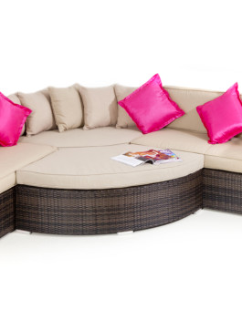 Kursi Sofa Furniture Rotan Sintetis Manufacture
