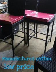 Mebel Kursi Rotan Bar Minimalis Cafe