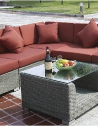 Sofa Pantai Furniture Rotan Sintetis