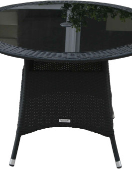 Meja makan rotan bundar / small round rattan dining table
