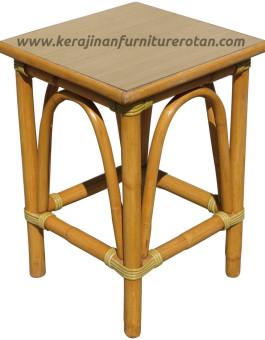 Meja teras rotan furniture rotan minimalis