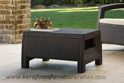 Furniture meja rotan modern minimalis