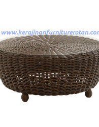 Meja kopi furniture rotan minimalis