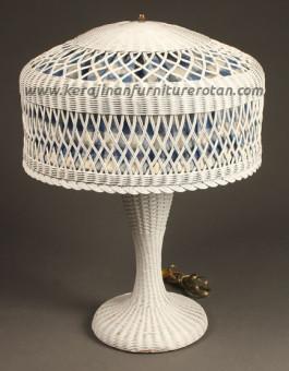 Lampu meja rotan vintage furniture rotan minimalis vintage