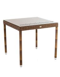 Meja makan rotan minimalis furniture rotan modern minimalis