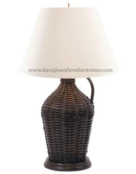 Lampu meja rotan antik furniture rotan modern