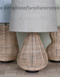 Lampu meja rotan antik furniture rotan minimalis export