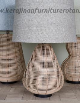 Lampu meja rotan antik furniture rotan minimalis export