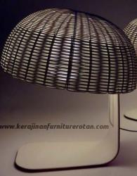 Lampu meja rotan minimalis modern furniutre rotan minimalis export