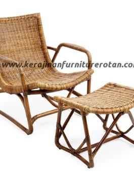 Kursi santai rotan minimalis furniture rotan export modern