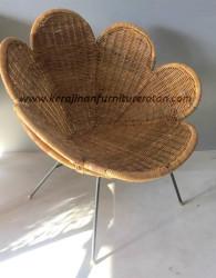 Kursi rotan minimalis bunga furniture rotan export