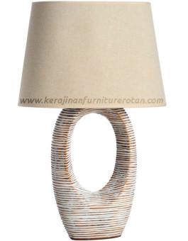 Lampu meja rotan modern export furniture rotan minimalis