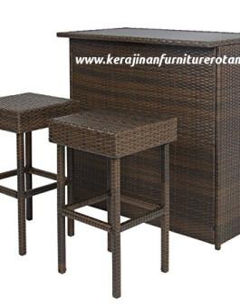 Set meja bar rotan export furniture rotan minimalis export