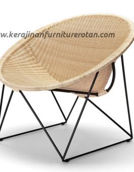 Kursi santai rotan kerucut furniture rotan export minimalis