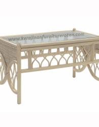 Meja minimalis rotan export terbaru furniture rotan minimalis