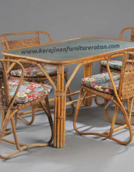 Set meja makan rotan klasik export furniture rotan klasik