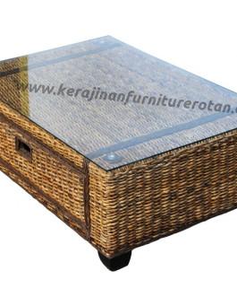 Meja tamu rotan modern export furniture rotan minimalis