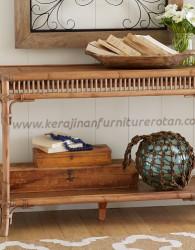Meja konsul rotan minimalis export furniture rotan minimalis