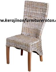 Kursi makan anyaman rotan minimalis modern export furniture rotan terbaru