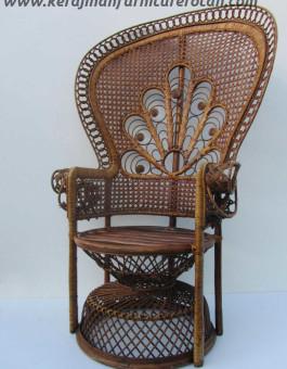 Kursi rotan antik retro export furniture rotan klasik
