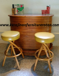 Meja bar kursi rotan export furniture rotan modern