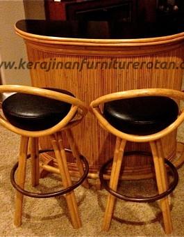 Meja kursi bar rotan export furniture rotan modern