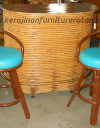 Set bar stools rotan export furniture rotan modern
