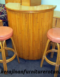 Set kursi kafe rotan export dan meja rotan minimalis modern