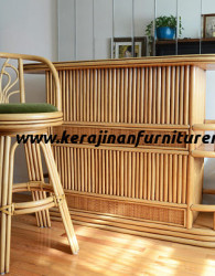 Set meja dan kursi bar rotan export modern furniture rotan minimalis