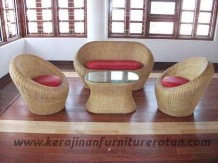 Sofa rotan minimalis export furniture rotan keluarga