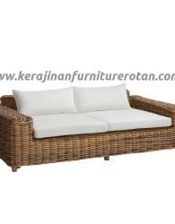 Sofa rotan minimalis 4 seater export furniture rotan modern elegan