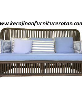 Sofa rotan minimalis export furniture rotan modern biru