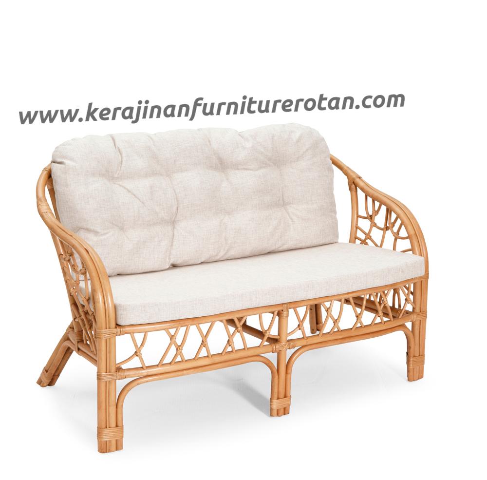 Sofa rotan modern elegan export furniture rotan minimalis putih